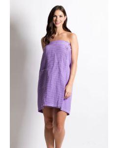 Women's Waffle Body Wrap, Adjustable Closure Lavender