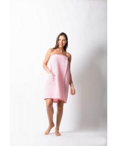 Women's Waffle Body Wrap, Adjustable Closure Pink