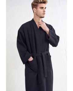 Men's Bath SPA Robe - Black
