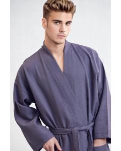Men's Bath SPA Robe - Charcoal Gray