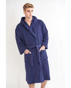 Men's Terry Midnight Hooded Bathrobe (One Size)