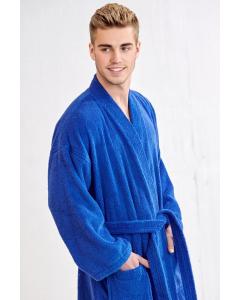 Men's Terry Royal Blue Bathrobe (One Size)