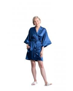 Satin Kimono Midnight Short Robe for Women