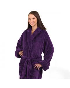 Tahoe Micro Fleece Shawl Collar Robe Purple