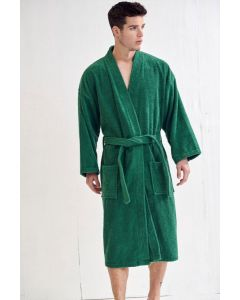 Men's Terry Forest Green Bathrobe (One Size)